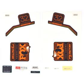 Fox Racing Shox Kit d'autocollants pour 32 F-S, orange/matte black